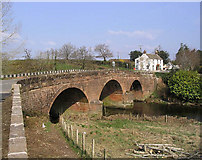 NX9479 : Bridge over the Cluden Water at Newbridge by Walter Baxter