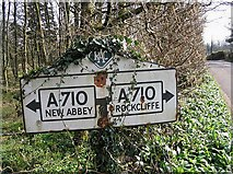 NX9257 : Old RAC Road Sign by Walter Baxter
