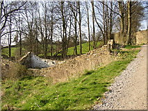 SE1039 : Ruin next to the five-rise locks, Bingley by Humphrey Bolton