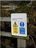 SH6214 : Footbridge sign near Barmouth Bridge by liz dawson