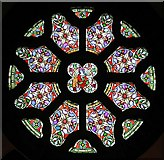 TQ1068 : St Mary, Sunbury-on-Thames - Rose window by John Salmon
