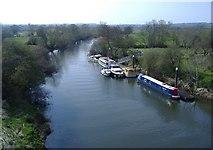 ST6868 : Pleasure boats, on the River Avon by Roger Cornfoot