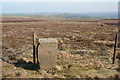 SE1343 : Boundary Stone, Hawksworth Moor by Mark Anderson