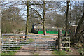 SK0432 : Game rearing sheds in Round Wood near Caverswall by Alan Murray-Rust