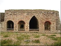 NU1341 : Lime kilns near Lindisfarne Castle. by Jeff Tomlinson