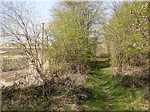 SE1323 : Footpath past the precast concrete factory, off Brookfoot Lane, Southowram by Humphrey Bolton