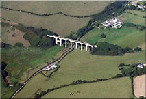 SY3192 : Cannington viaduct from the air by M Etherington