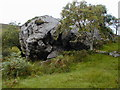 B9514 : Rock outcrop in the Barra Valley by Chris Gunns