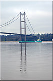 TA0224 : Ship Passing Under the Humber Bridge by David Wright