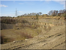 SE1223 : The quarry to the west of Footpath 46, Cromwell Quarries, Southowram by Humphrey Bolton