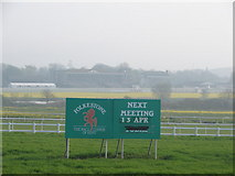 TR1236 : Folkestone Racecourse by Adam Hincks