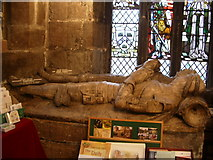 SJ8588 : Effigies, St Mary's The parish Church of Cheadle. by Alexander P Kapp
