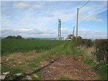 NZ2431 : Telecommunications mast on Westerton Hill by Oliver Dixon