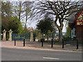 NZ4318 : Ropner Park gates by Carol Rose