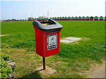 TQ2804 : Dog Poop Bin, Western Lawns by Simon Carey