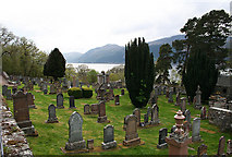 NH5022 : Cemetery by Easter Boleskine overlooking Loch Ness. by Des Colhoun