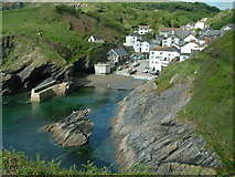 SW9339 : The Harbour, Portloe by Robin Lucas