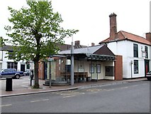 TF4066 : Bus Shelter, Spilsby by Dave Hitchborne