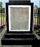 SE2932 : Inscription on Murray Memorial in St Matthew's Churchyard, Holbeck by Betty Longbottom