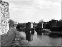 ST9661 : Remains of old railway bridge, Lower Foxhangers, Kennet and Avon Canal by Dr Neil Clifton