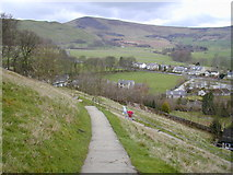 SK1482 : The path up to Peveril Castle by Chris Gunns
