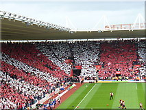 SU4212 : Red and White Stripes at St Mary's Stadium by Colin Smith