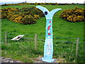 NX4661 : Milepost on National Cycle Route 7 by Iain Thompson
