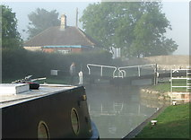 ST9361 : Seend Top Lock and Seend Silver Bridge K&A Canal 2005 by Maurice Pullin