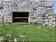 SD8167 : Bench Mark on Old Barn by John S Turner