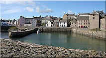 NJ5866 : Portsoy Old Harbour by Anne Burgess