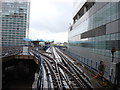 TQ3780 : West India Quay from Canary Wharf by Oxyman