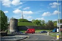 TR1457 : Canterbury city walls by Elliott Simpson