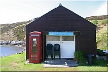 NB9908 : Summer Isles post office and cafe, Tanera Mòr by Bob Jones