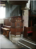 SD6592 : Pulpit The Parish Church of St Andrew, Sedbergh by Alexander P Kapp