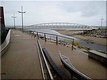 J3731 : New footbridge, Newcastle Promenade by Oliver Dixon