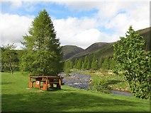"""NO2876 : """"Glen Doll"""" picnic place by Richard Webb"""
