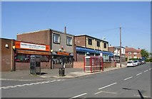 SE1321 : Shops, Highfield Road, Rastrick by Humphrey Bolton