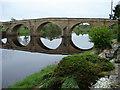 NY9170 : Flat Calm at Chollerford Bridge by Roy Turner