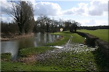 TG1807 : River Yare in flood, near UEA by Katy Walters