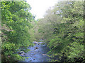 NY5663 : River Irthing near Lanercost by Stephen Craven