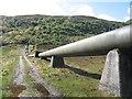 NH1837 : Hydro works, Gleann Innis an Loichel by Richard Webb