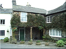 SD3778 : House  west side of The Square, Cartmel by Alexander P Kapp