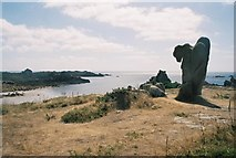 SV8707 : St. Agnes: interesting rock feature by Chris Downer