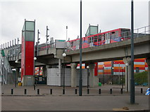 TQ4380 : Gallions Reach Station, Docklands Light Railway by Danny P Robinson