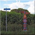 SP4336 : National Cycle Network route 5 marker by Duncan Lilly
