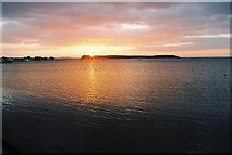 SZ0287 : Poole Harbour: sunset over Brownsea by Chris Downer