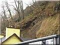 NM5055 : Landslide, Tobermory by Richard Webb