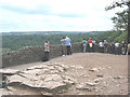 SO5616 : Viewing point at Symonds Rock by Pauline E