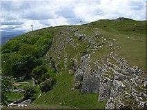 SH7783 : Mynydd Isaf by Andrew Smith