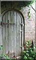 SO6527 : Secret doorway in church outbuilding, Upton Bishop by Pauline E